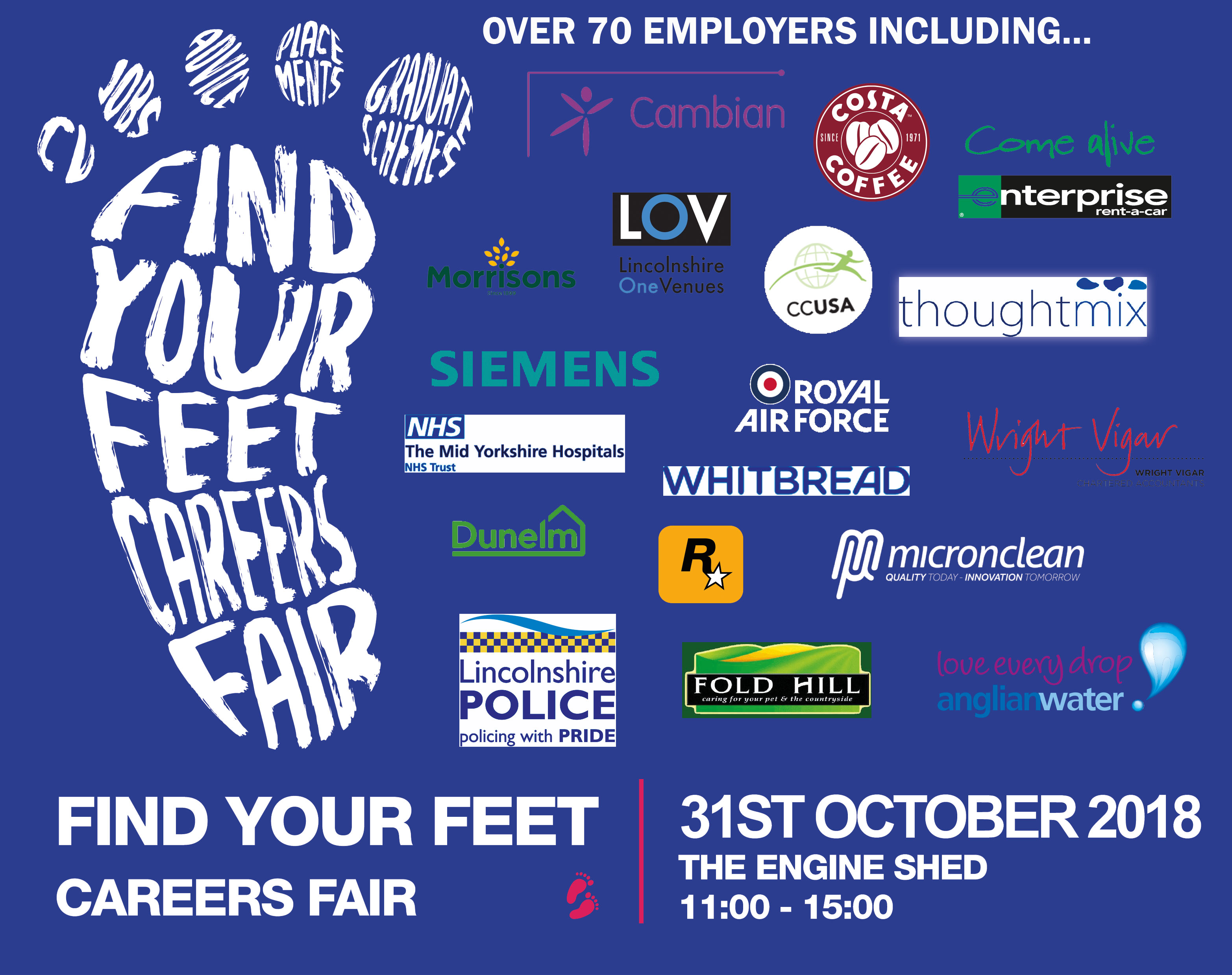 Find Your Feet Careers Fair University Of Lincoln Careers