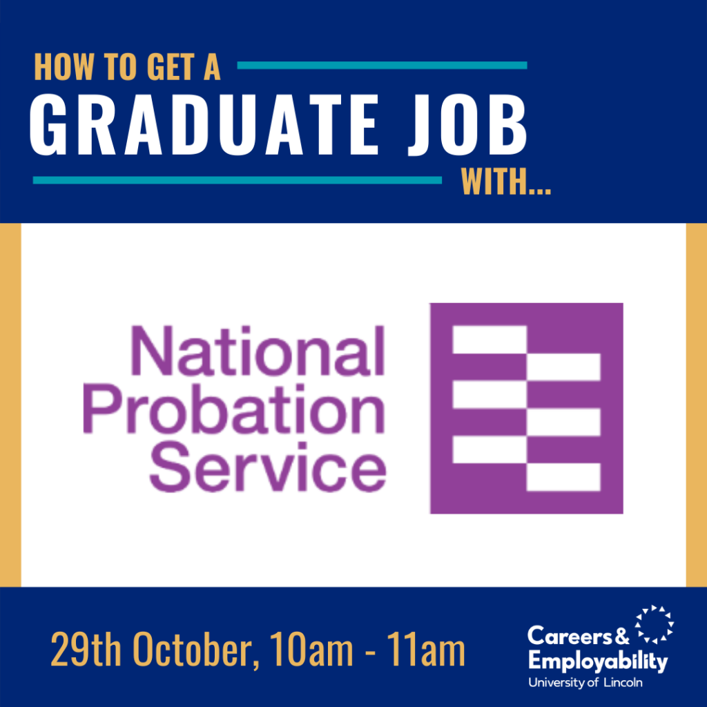 How to get a graduate job with National Probation Service