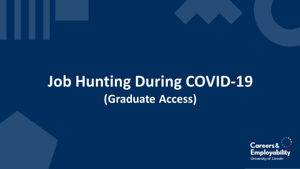 Title stating Job Hunting During Covid