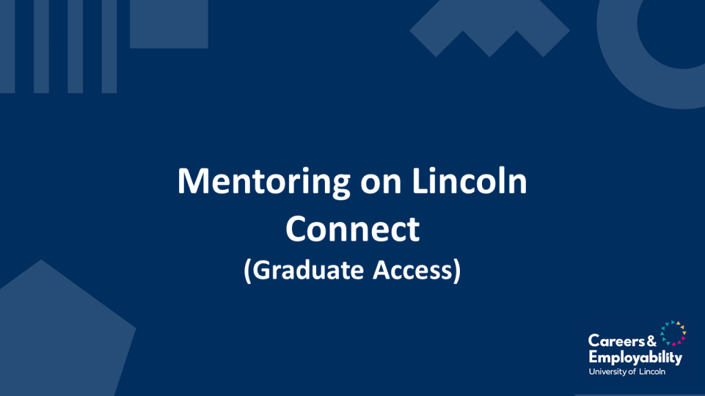 Title stating Mentoring on Lincoln Connect
