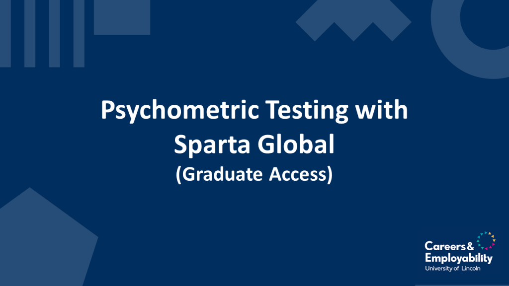 Title stating Psychometric Testing with Sparta Global