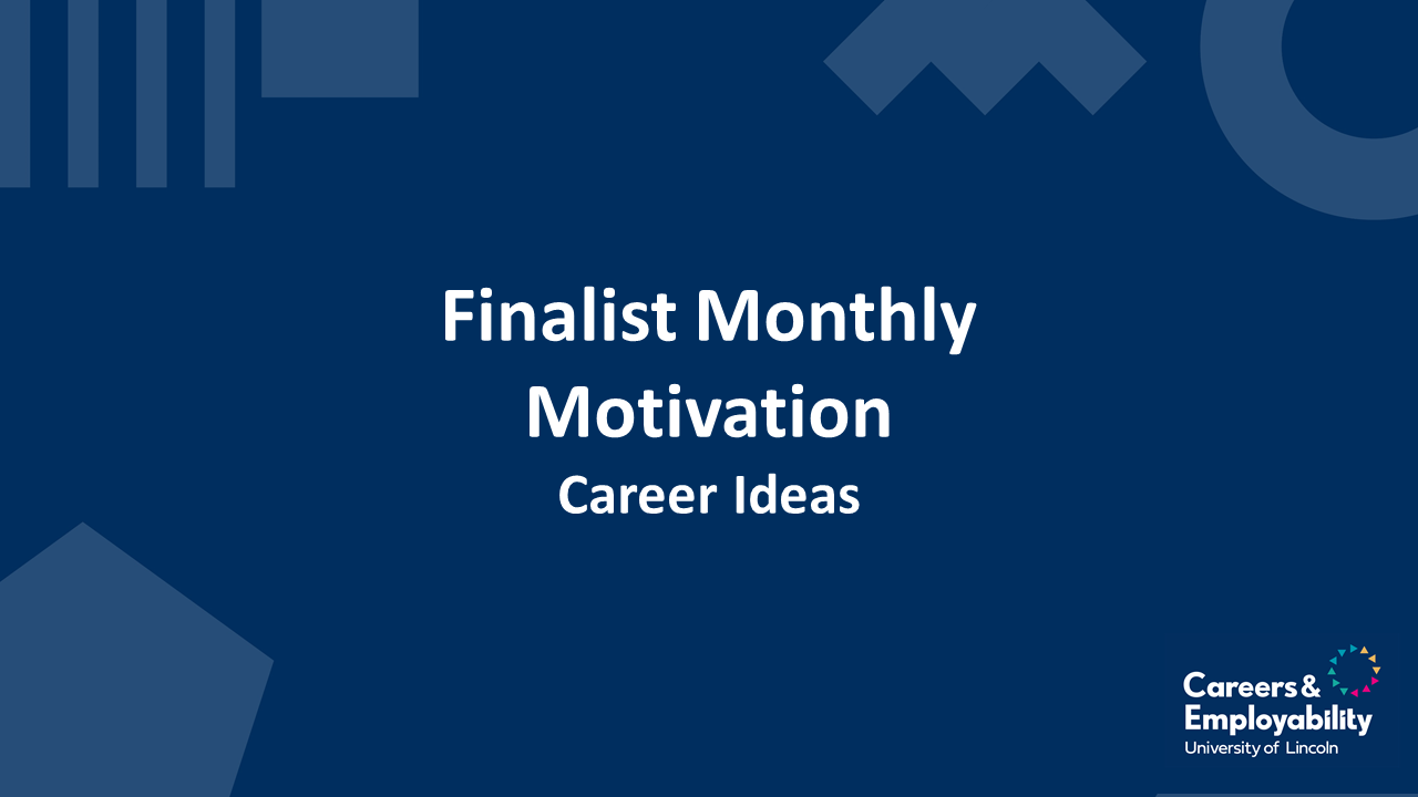 Career ideas webinar link