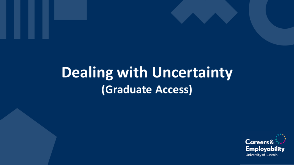 Title of Dealing with Uncertainty