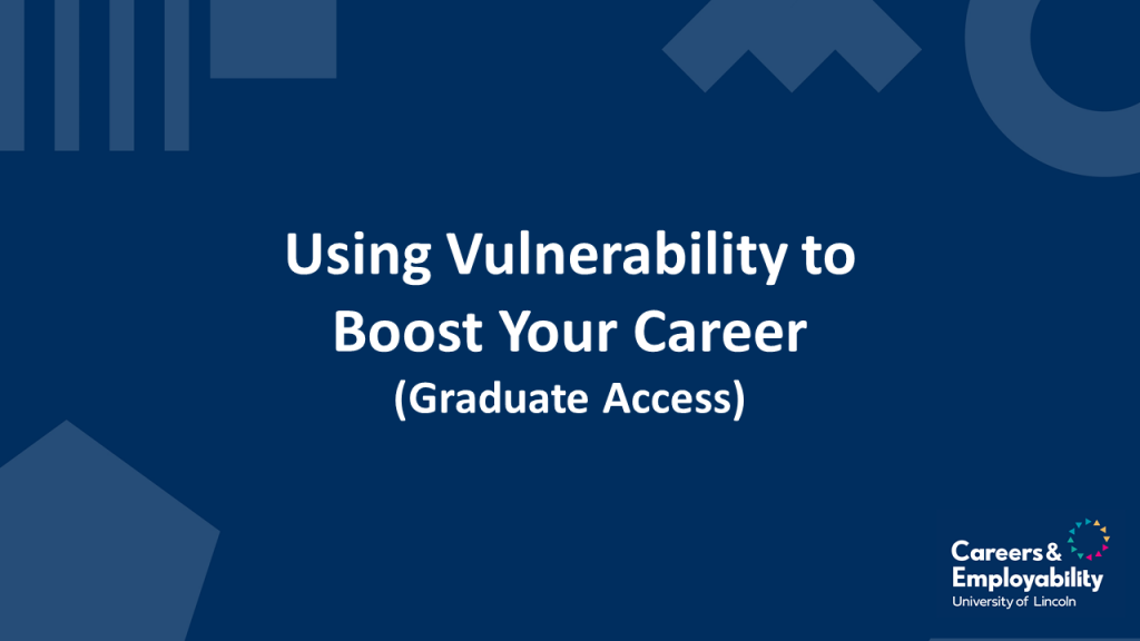 Title Stating Using Vulnerability to Boost Your Career